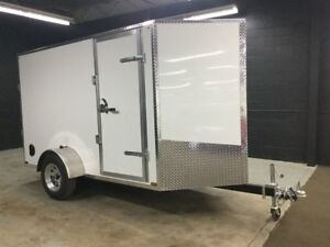 2017 Canadian Trailer Company 5'x10' V-Nose Cargo Trailer Steel