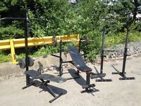 *Home Gym Equipment!*Weight Bench, Squat Rack, Pull Up Bar, Cable Machine, Free Weights bodybuilding