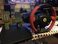 Thrustmaster Ferrari Spider 458 Racing Wheel and Pedals Xbox One