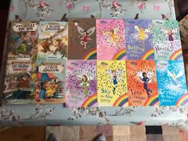 Lots of childrens books, sticker books and workbooks