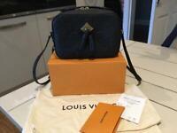 Louis Vuitton Saintonge Crossbody Bag, Black Monogram Empreinte Leather
