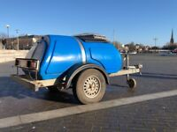 1000 Litre / 250 Gal. Road Tow Fresh Water Bowser Great Condition - Available for Collection Now