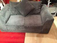 2 seater sofa Grey corduroy type fabric