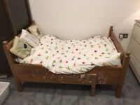 Ikea Leksvik Children's Extendable Bed and Mattress. Great Condition
