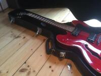 Epiphone Dot 335 Cherry Guitar plus hard case - new strings - barely played