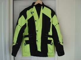 motorcycle jacket - Bikers Gear CJ1019 High Visibility Avalanche CE Armour