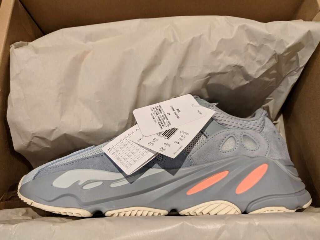 63f6f8b0bfb93 YEEZY BOOST 700 INERTIA UK 8.5 Brand New Deadstock