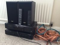 HiFi Separates - CD Player, Amp, Speakers, Remotes, All Cables