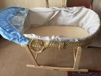 Moses Basket Hardly Used- 2 months Old