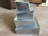 Professional topsy turvy square cake tin set of 4