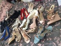 Bundle of 15 Size 8 Shoes - High Heels