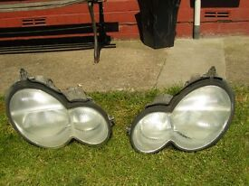 Set of Mercedes headlights.