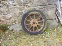 vintage car or cart wheel for sale