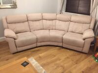 Electric reclining curved sofa