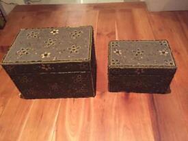 Beautiful ornate boxes