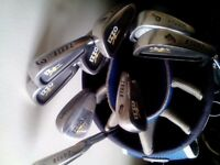 Izzo Bladz iron set of 9 irons, all with Precision rifle shafts. Grips are 5/10 .