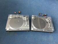 Pair of Technics SL 1210 mk 2 Turntables with Ortofon Cartridges