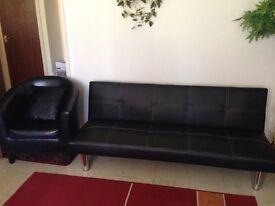 2 sofa beds 2 armchairs