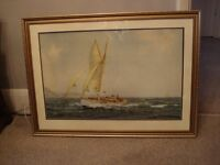 Yachting Framed Picture 81.5cm x 59.5cm