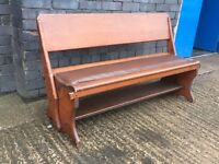 Vintage Reversible Church Pew Bench