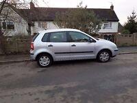 vw polo 2002 petrol 1.4 5 doors good runner car ,cheap tax and inshorance.