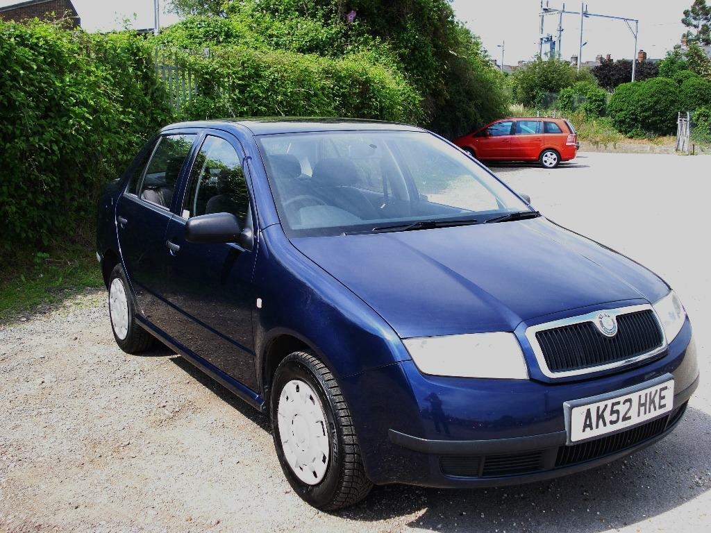 skoda fabia 1 9 sdi classic 4 dr 2002 reg mot feb16 part skoda service history 3 months. Black Bedroom Furniture Sets. Home Design Ideas