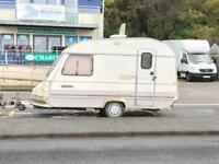 2 berth caravan and awning