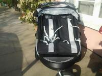 double buggy with storage and rain cover
