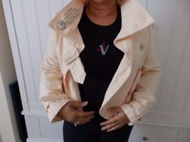 """Criminal"" Brand Lady's 100% Cotton Jacket Size M"
