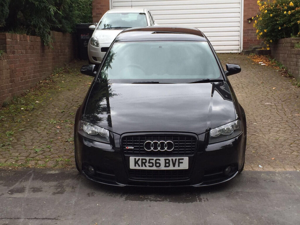 audi a3 2 0 tdi 140 sportback s line blacked out fully loaded 1 owner fsh 2 keys px golf bmw vw. Black Bedroom Furniture Sets. Home Design Ideas