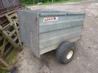 Trailer - Logic SST, Originally for quad-bike. Flotation tires. Suitable for sheep/livestock.