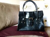 REDUCED. Handbag: Mulberry Georgie in Black Vintage Kenya Leather