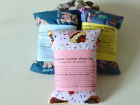 LAVENDER WHEAT BAGS - GREAT CHRISTMAS PRESENTS - ALL HAND MADE USING BRITISH PRODUCTS