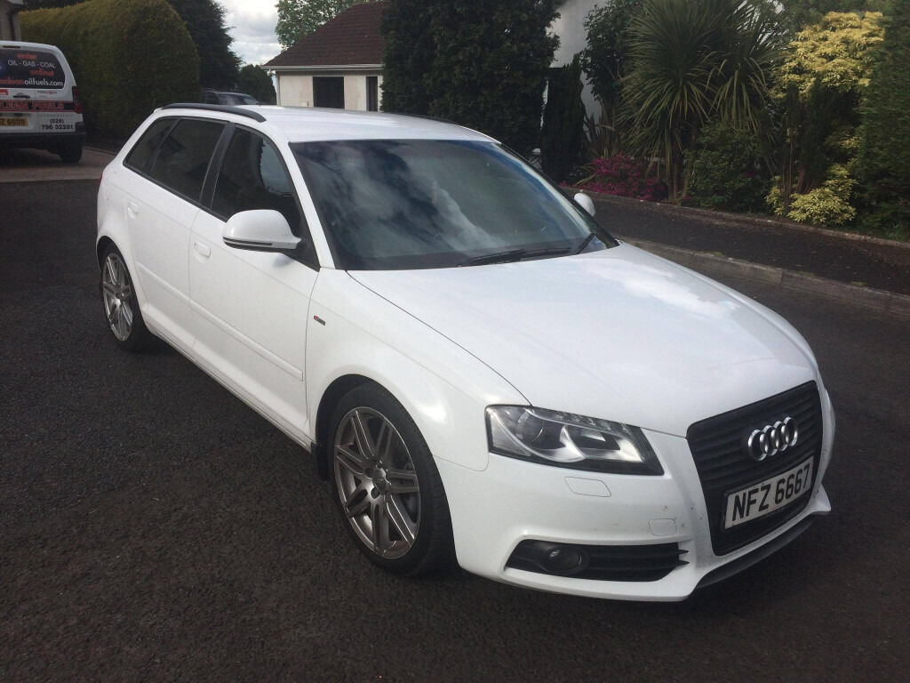 2008 audi a3 white 2 0 tdi s line manual 132k miles 5. Black Bedroom Furniture Sets. Home Design Ideas
