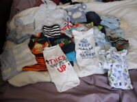 Baby boy clothes, age 3 to 6 months - including Next, M&S