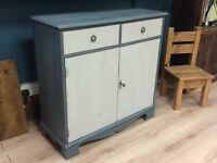 Shabby chic hand painted unit sideboard farrow and ball painted