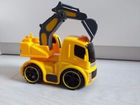 Push and Go Digger / Excavator / Toy Car with Light & Sound Effect