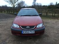 2002 Toyota Avensis 2.0 GS MOT January 2018