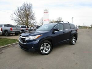 2015 Toyota Highlander Limited One Owner, Toyota Certified