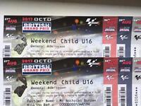 British Moto GP weekend tickets under 16 x 2