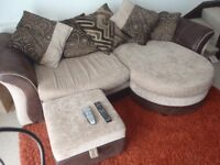 DFS large family sofa and cuddle chair. DFS sofa swivel chair. Non smoking home