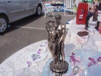 Crosa 2001 Bronze embracing naked couple. In good condition