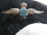 Silver and Enamel RAF Sweetheart Lapel Brooch 1940