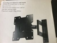 Extending arm TV wall mount. Suitable for screen size 23-40inch for LCD TVs.
