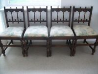 4 Vintage Old Charm Chairs vgc