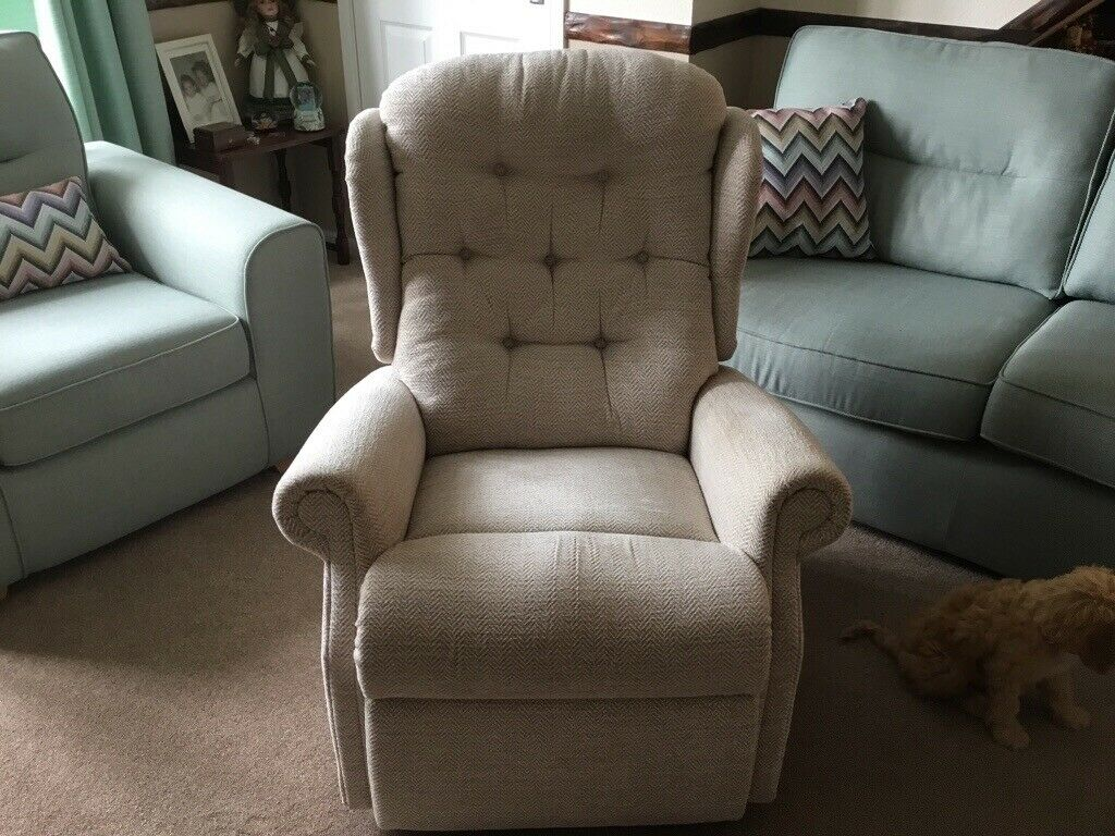 Stupendous Small Manual Recliner Chair Fabric Herringbone Material In Market Weighton North Yorkshire Gumtree Bralicious Painted Fabric Chair Ideas Braliciousco