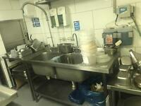 FOR SALE--commercial kitchen , taps and a commercial dishwasher!