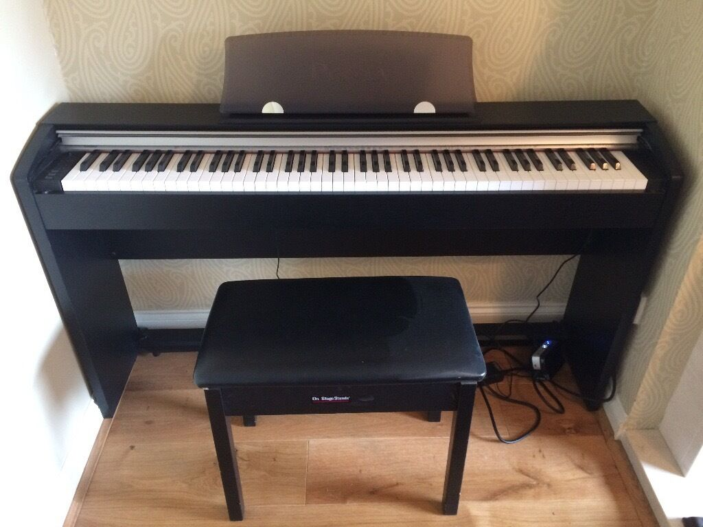 casio privia px 730 electric piano with piano stool in aylesbury buckinghamshire gumtree. Black Bedroom Furniture Sets. Home Design Ideas