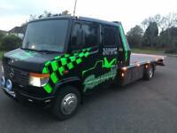 Mercedes 814d recovery truck tilt and slide