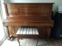 Upright Piano, Stool & Books (also listed separately)